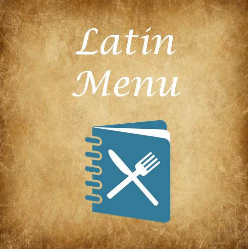 Latin Menu